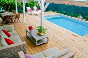 Petite Villa Guadeloupe: Terrasse